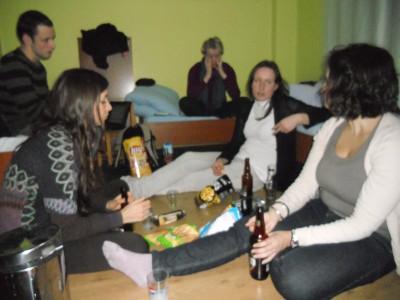 Hostelio kambaryje