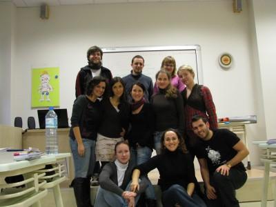 EILIC grupė (per vidurį, šalia manęs - mūsų dėstytoja)