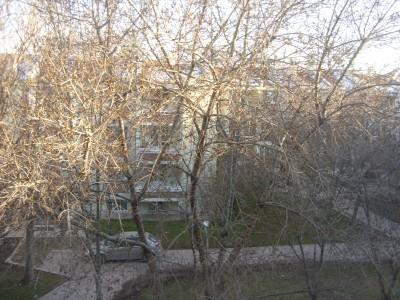 Vaizdas pro mano sveciu kambario langa